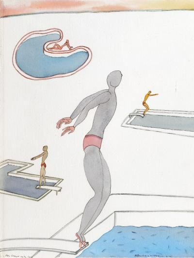 Barbara Nessim Swimmers and Divers