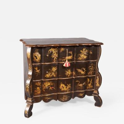 Baroque Style Japanned Dwarf Commode The Netherlands ca early19th century