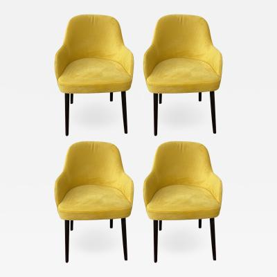 Barrel Back Armchair or Side Chair Mid Century Modern Style a Set of 4