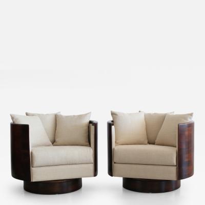 Barrel Back Swivel Chairs