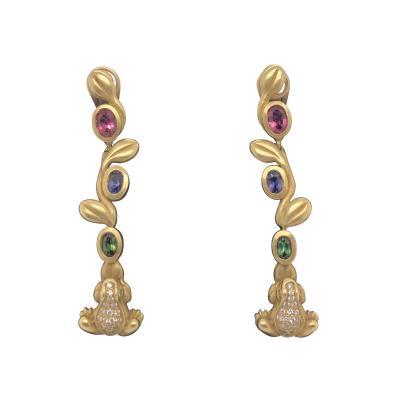 Barry Kiselstein Cord Kiselstein Cord Frog Prince earrings