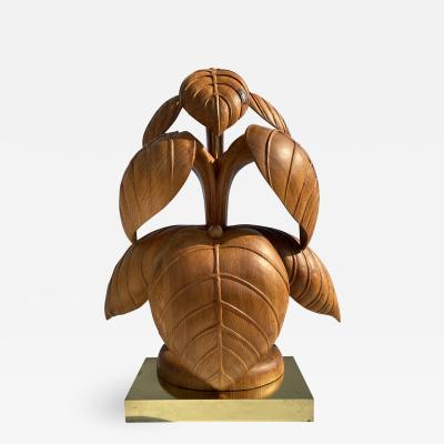 Bartolozzi Maioli Bartolozzi Maioli Rhubarb Leaf Sculpture Lamp by Bartolozzi Maioli