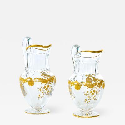 Barware Tableware Crystal Gold Pair Pitchers