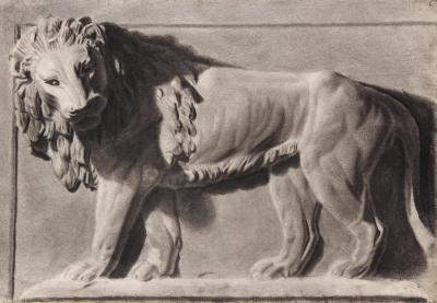 Antoine Louis Barye Relief of a Lion