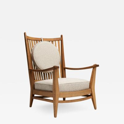 Bas Van Pelt Bas van Pelt Oak and Boucl Lounge Chair The Netherlands 1940s