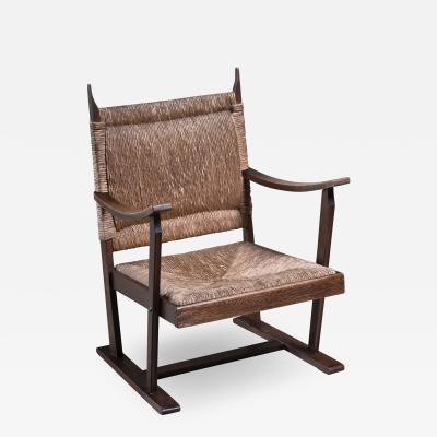 Bas Van Pelt Bas van Pelt early oak and rush chair