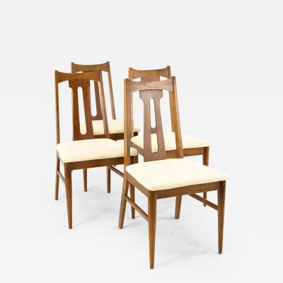 Bassett Mid Century Walnut Dining Chairs Set of 4