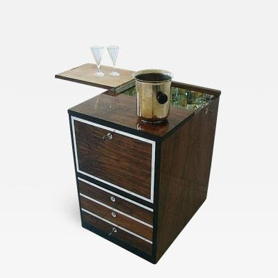 Bauhaus Bar Furniture Walnut Maple and Aluminium Germany circa 1930