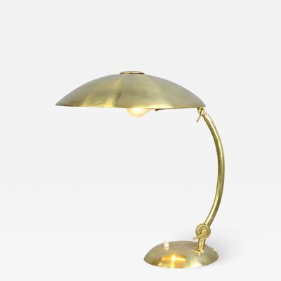 Bauhaus Brass Table Lamp By Hillebrand Circa 1930s