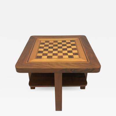 Bauhaus Chess Table Walnut and Maple Germany circa 1930