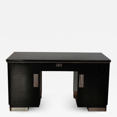 Bauhaus Desk Black and Chrome Germany circa 1930