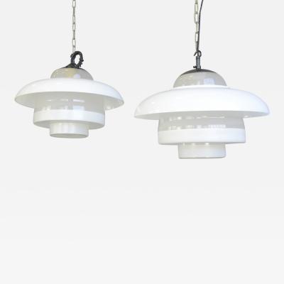 Bauhaus Pendant Lights By Mithras Circa 1930s