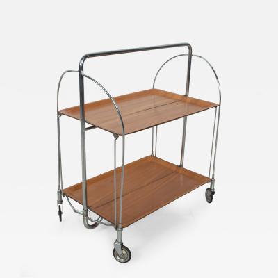 Bauhaus Russian Tea Service Trolley Tray Bar Cart Folding Design USSR