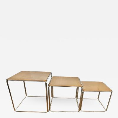 Bauhaus Style Modern Nesting Tables Set of 3