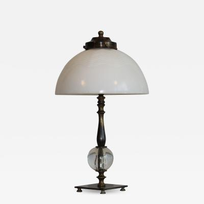 Bauhaus Style with Opaline glass shade