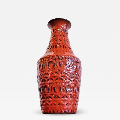 Bay Keramik TALL BAY KERAMIK RELIEF DECOR VASE Nr 606 30 B
