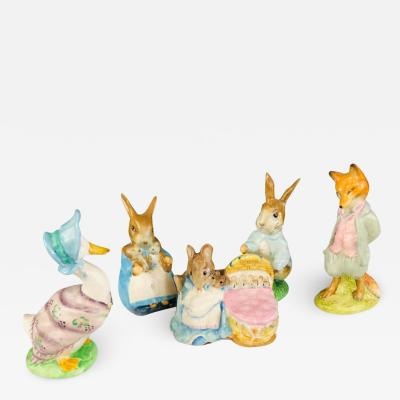 Beatrix Potter s Collectible Animal Figurines Set of 5
