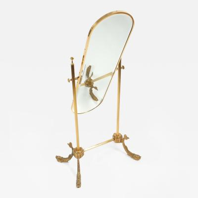 Beautiful Floor Mirror Made from Brass France