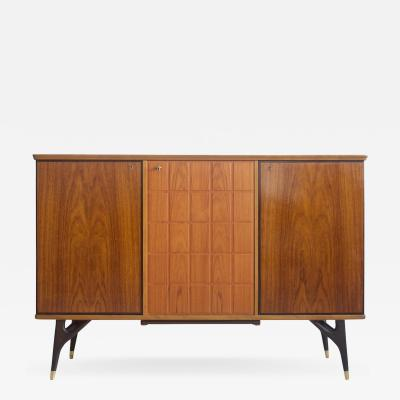 Beech and Teak Veneered Sideboard by Tabergs Mobler