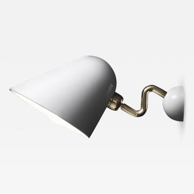 Beghina Applique Sconce in White and Brass