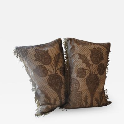 Belgian Gold Metallic Beaded Cushions