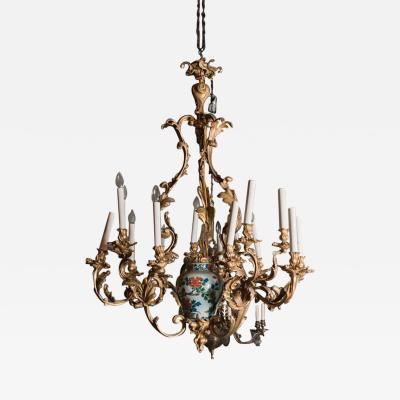Belle Epoque Gilt Bronze Chandelier