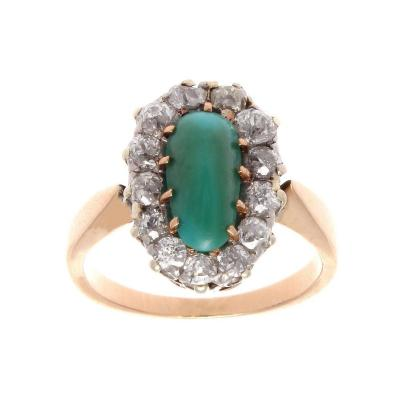 Belle Epoque Turquoise Diamond Gold Ring