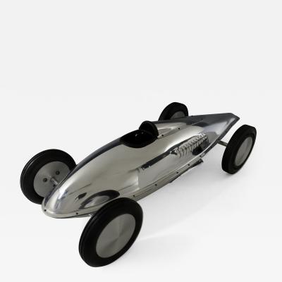 Belly Tank Bonneville Salt Flats Race Car Sculpture