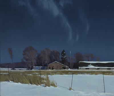Ben Bauer Sauk Rapids Farm by Moonlight