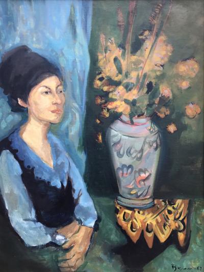 Ben Benn Woman with Flowers