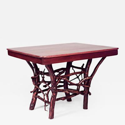 Ben Davis American Rustic Adirondack Style Twig Base Rectangular Dining Table