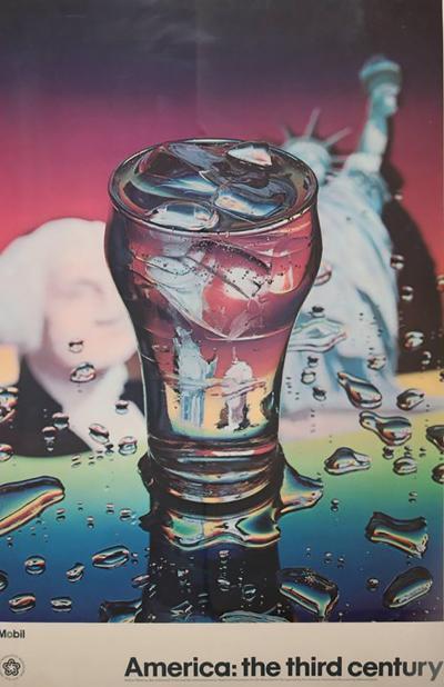 Ben Schonzeit American Centennial 1976 Photorealist Poster by Ben Schonzeit