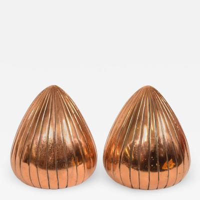 Ben Seibel Ben Seibel Clam Bookends in a Copper Finish