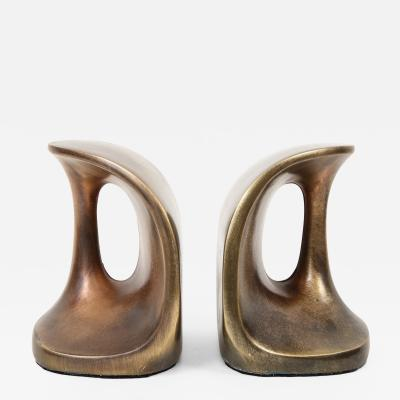 Ben Seibel Ben Seibel Modernist Bronze Bookends