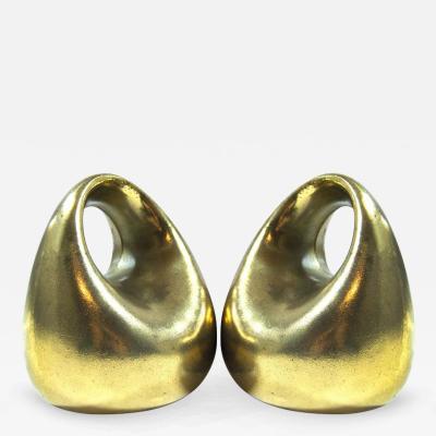 Ben Seibel Ben Seibel for Jenfred Ware Orb Brass Bookends