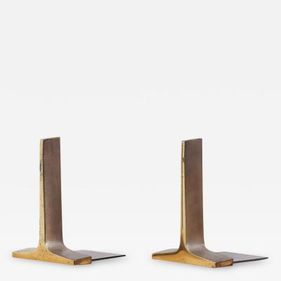 Ben Seibel Modernist Bronze Bookends by Ben Seibel USA 1950s