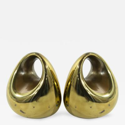 Ben Seibel Pair of Orb Bookends by Ben Seibel for Jenfred Ware