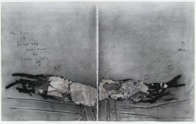 Ben Woolfitt The loss of friendship silverleaf and pastel work on paper by Ben Woolfitt