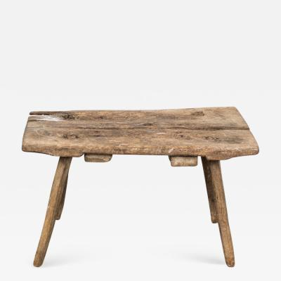 Bench Rustic Swedish Wood 19th Century Sweden