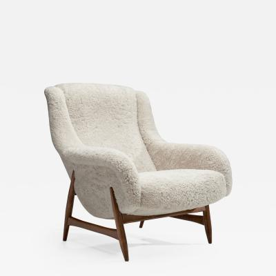 Bengt Ruda Rare Lounge Chair by Bengt Ruda for Artifort The Netherlands 1960s