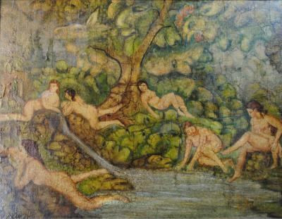 Benish Mininberg Benish Mininberg Bathers Painting
