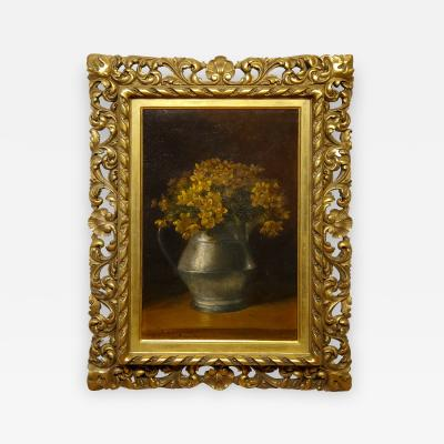 Benjamin Champney Benjamin Champney Still Life Painting of Yellow Flowers