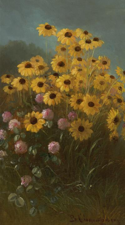 Benjamin Champney Still Life with Black Eyed Susans and Clover