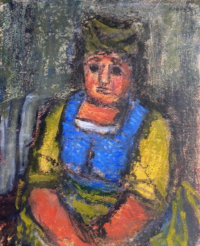 Benjamin D Kopman Woman in Blue and Yellow