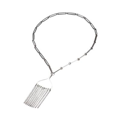 Bent Gabrielsen Georg Jensen Danish Modern Pendant Necklace by Bent Gabrielsen No 142