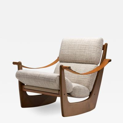Bent Helweg M ller Rocking Chair by Bent M ller Jepsen for Boltinge Stolefabrik Denmark ca 1960s