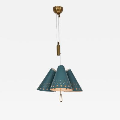 Bent Karlby 1950s Bent Karlby Counterweight Chandelier for Lyfa