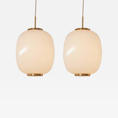 Bent Karlby Pair of China Pendants Designed by Bent Karlby for Lyfa