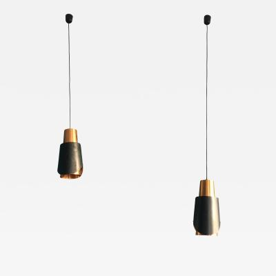 Bent Karlby Pair of Vintage Bent Karlby Osterport Pendant Lights Produced by Lyfa in Denmark