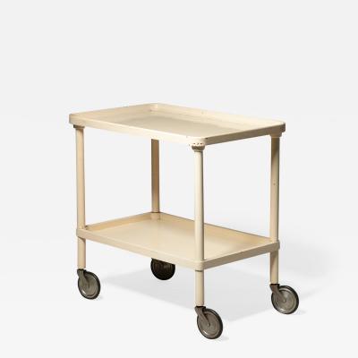 Beppe Bartesaghi Italian 60s wood cart designed by Beppe Bartesaghi